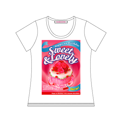 min3000 GRAPHICS オリジナルグッズ:THE PACKAGE OF ROSE CAKE T-SHIRT (デザインTシャツ)