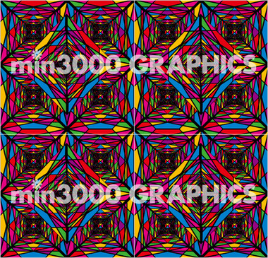 min3000 GRAPHICS オリジナルグラフィックパターン:PSYCHEDELIC STEEL TOWERS (General View)
